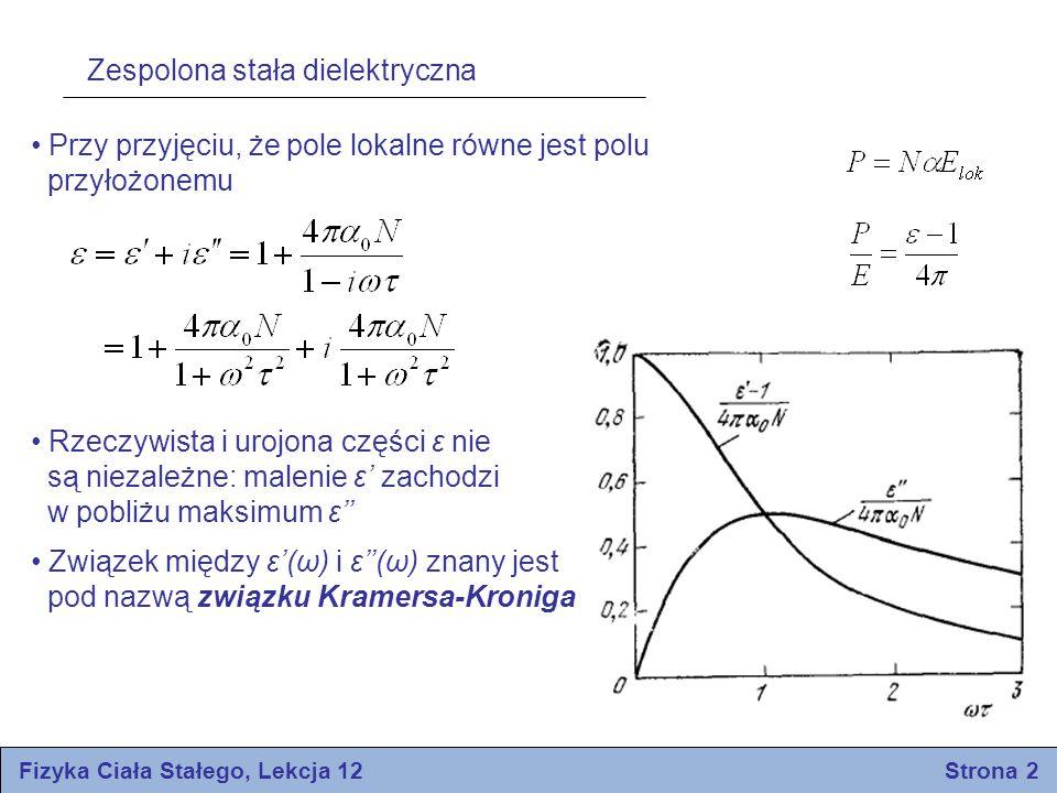 Fizyka Ciała Stałego, Lekcja 12 Strona 2