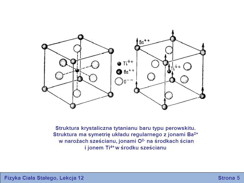 Struktura krystaliczna tytanianu baru typu perowskitu.