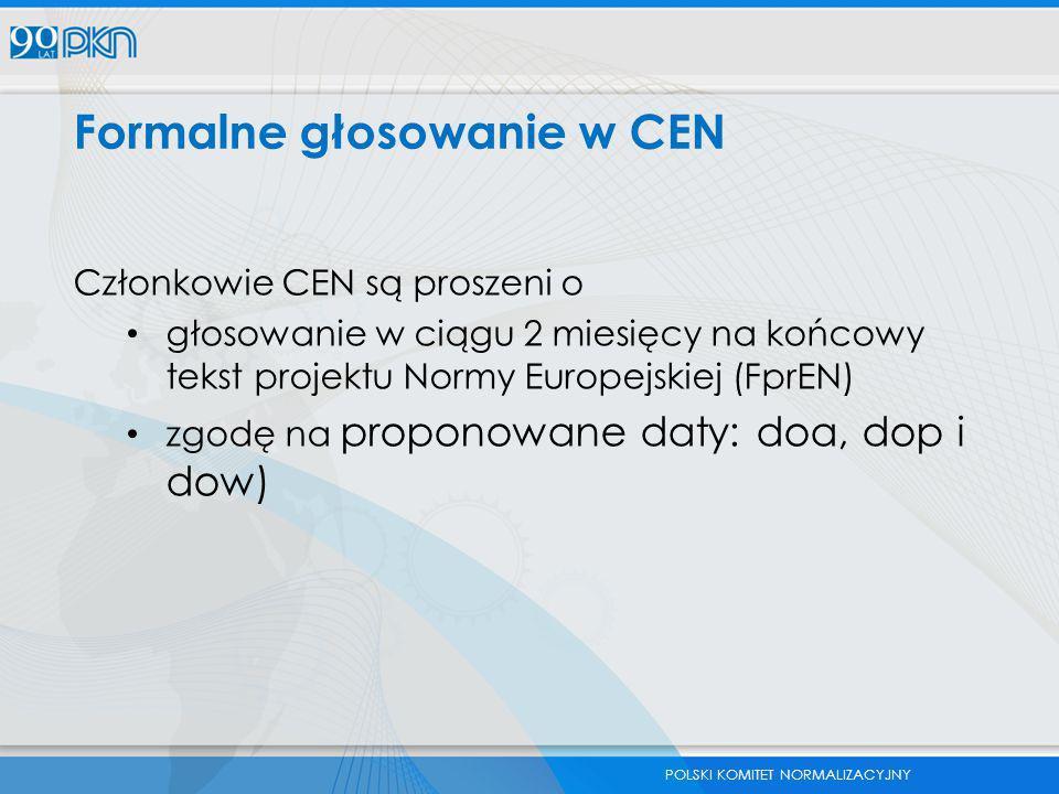 Formalne głosowanie w CEN