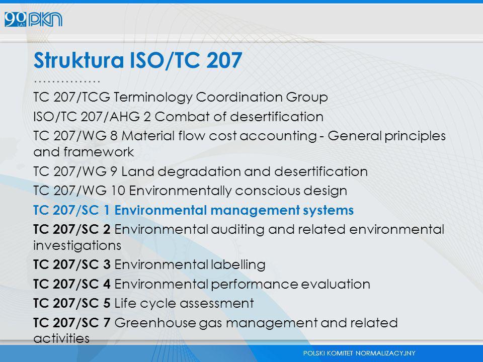 Struktura ISO/TC 207 …………… TC 207/TCG Terminology Coordination Group