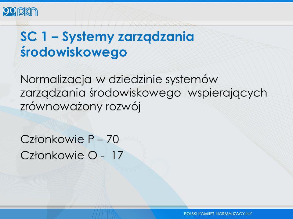SC 1 – Systemy zarządzania środowiskowego