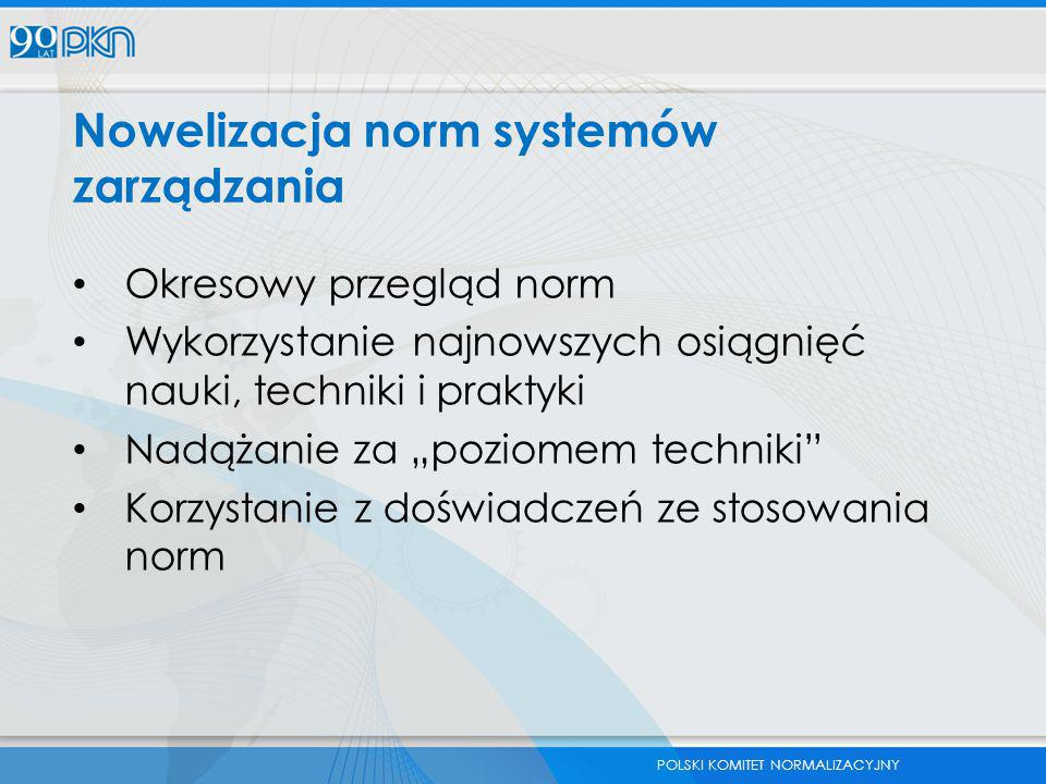 Nowelizacja norm systemów zarządzania