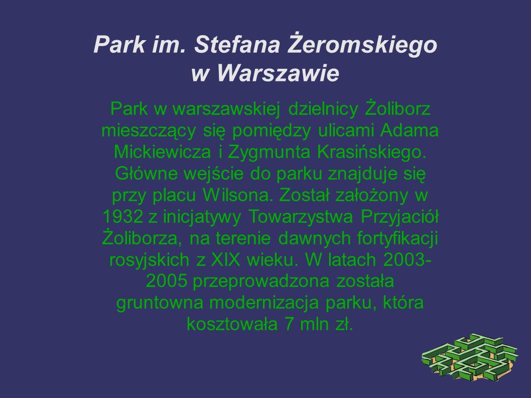 Park im. Stefana Żeromskiego w Warszawie
