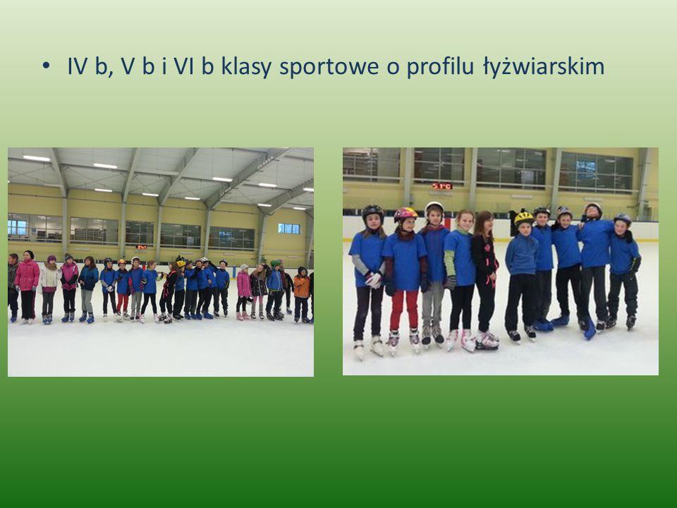 IV b, V b i VI b klasy sportowe o profilu łyżwiarskim
