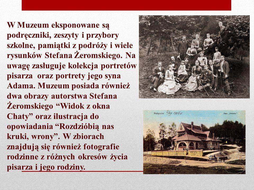 W Muzeum eksponowane są podręczniki, zeszyty i przybory szkolne, pamiątki z podróży i wiele rysunków Stefana Żeromskiego.