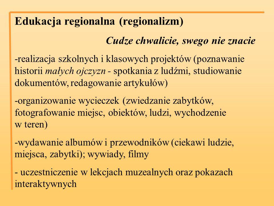 Edukacja regionalna (regionalizm)