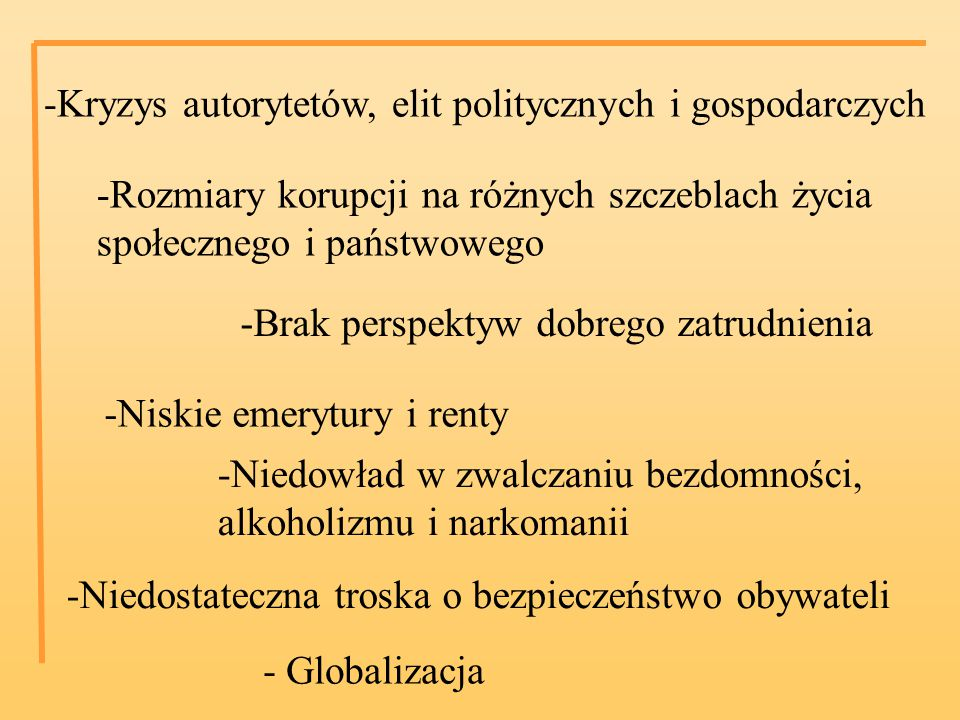 -Kryzys autorytetów, elit politycznych i gospodarczych