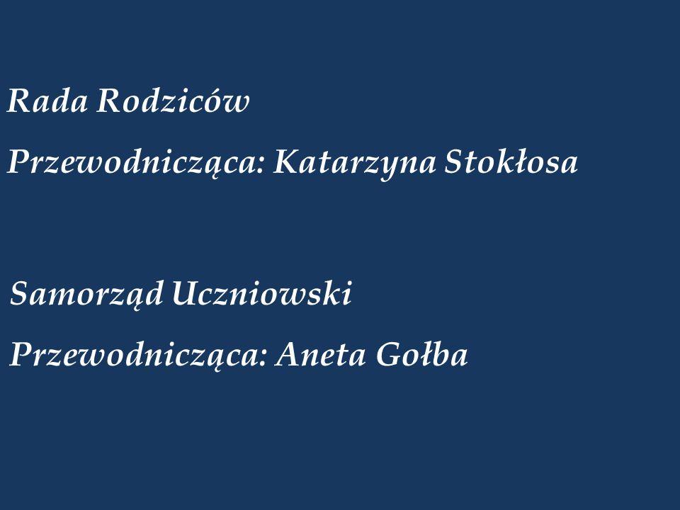Rada Rodziców Przewodnicząca: Katarzyna Stokłosa Samorząd Uczniowski Przewodnicząca: Aneta Gołba