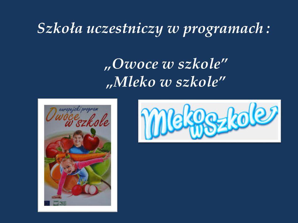 Szkoła uczestniczy w programach :