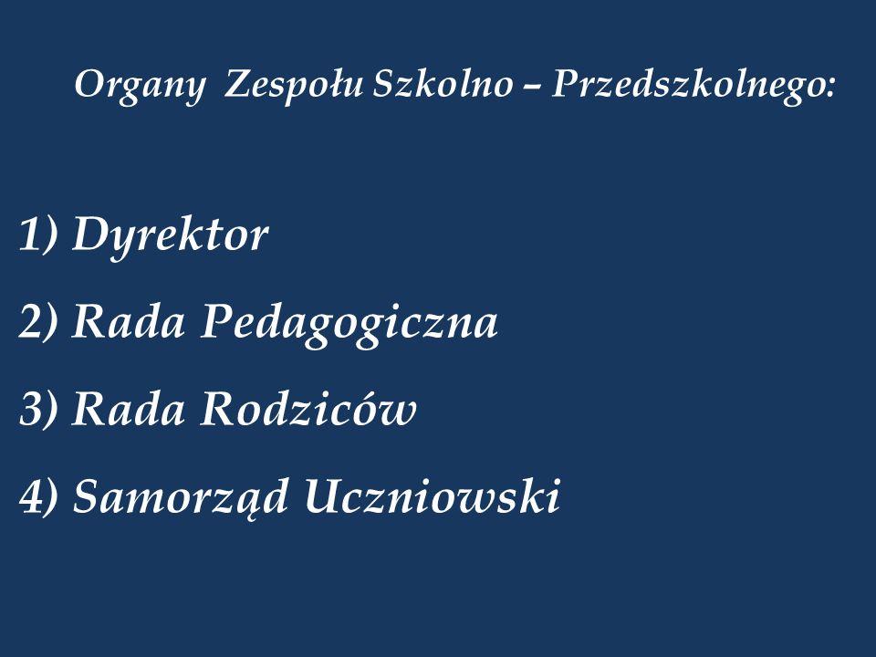 Organy Zespołu Szkolno – Przedszkolnego: