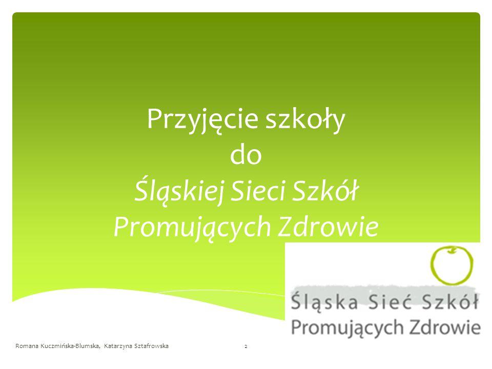 Przyjęcie szkoły do Śląskiej Sieci Szkół Promujących Zdrowie