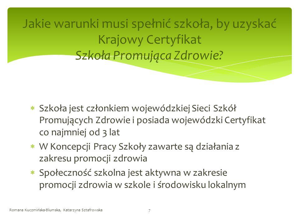 Jakie warunki musi spełnić szkoła, by uzyskać Krajowy Certyfikat Szkoła Promująca Zdrowie