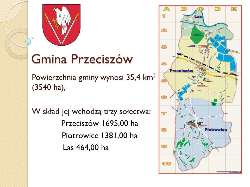 Gmina Przeciszów Powierzchnia gminy wynosi 35,4 km2 (3540 ha),