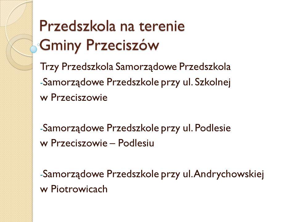 Przedszkola na terenie Gminy Przeciszów