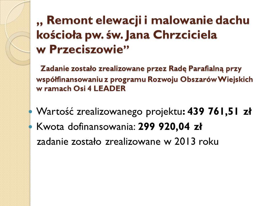 """"""" Remont elewacji i malowanie dachu kościoła pw. św"""
