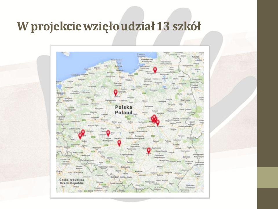 W projekcie wzięło udział 13 szkół