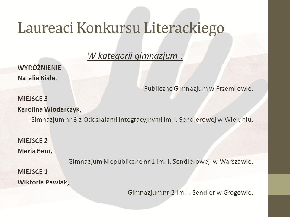 Laureaci Konkursu Literackiego