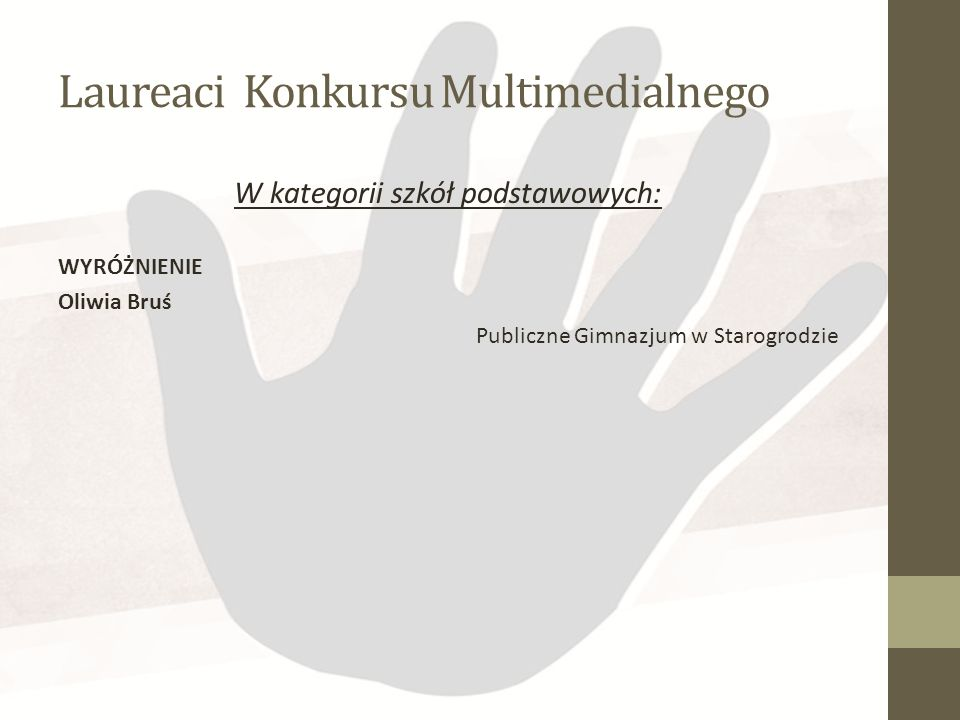 Laureaci Konkursu Multimedialnego