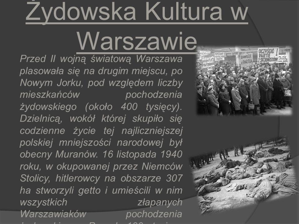 Żydowska Kultura w Warszawie