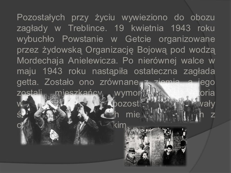 Pozostałych przy życiu wywieziono do obozu zagłady w Treblince