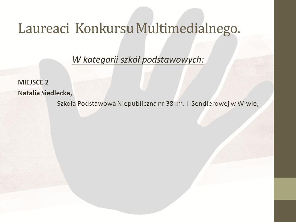 Laureaci Konkursu Multimedialnego.