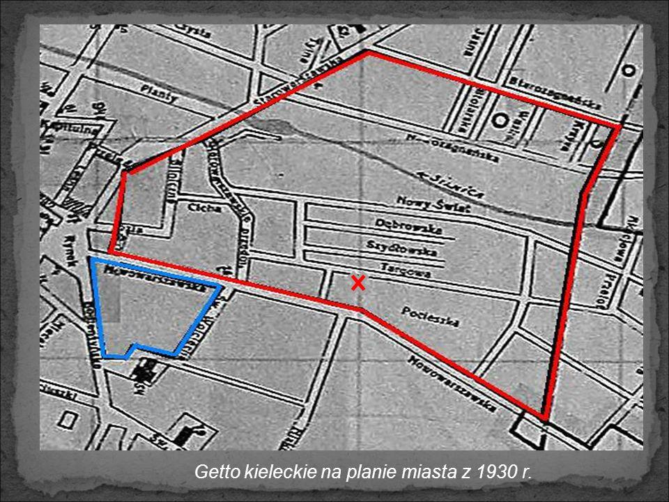 Getto kieleckie na planie miasta z 1930 r.