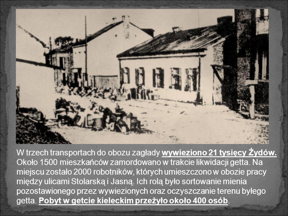 W trzech transportach do obozu zagłady wywieziono 21 tysięcy Żydów