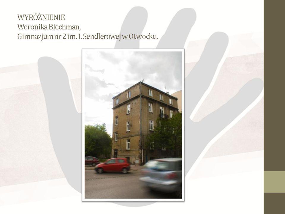 WYRÓŻNIENIE Weronika Blechman, Gimnazjum nr 2 im. I