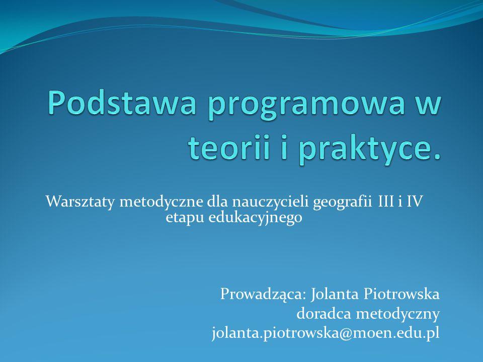 Podstawa programowa w teorii i praktyce.