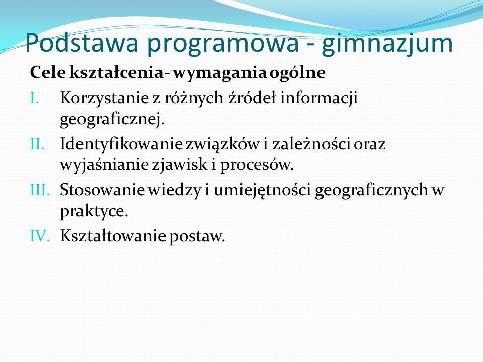 Podstawa programowa - gimnazjum