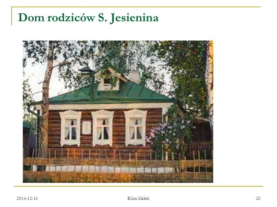 Dom rodziców S. Jesienina