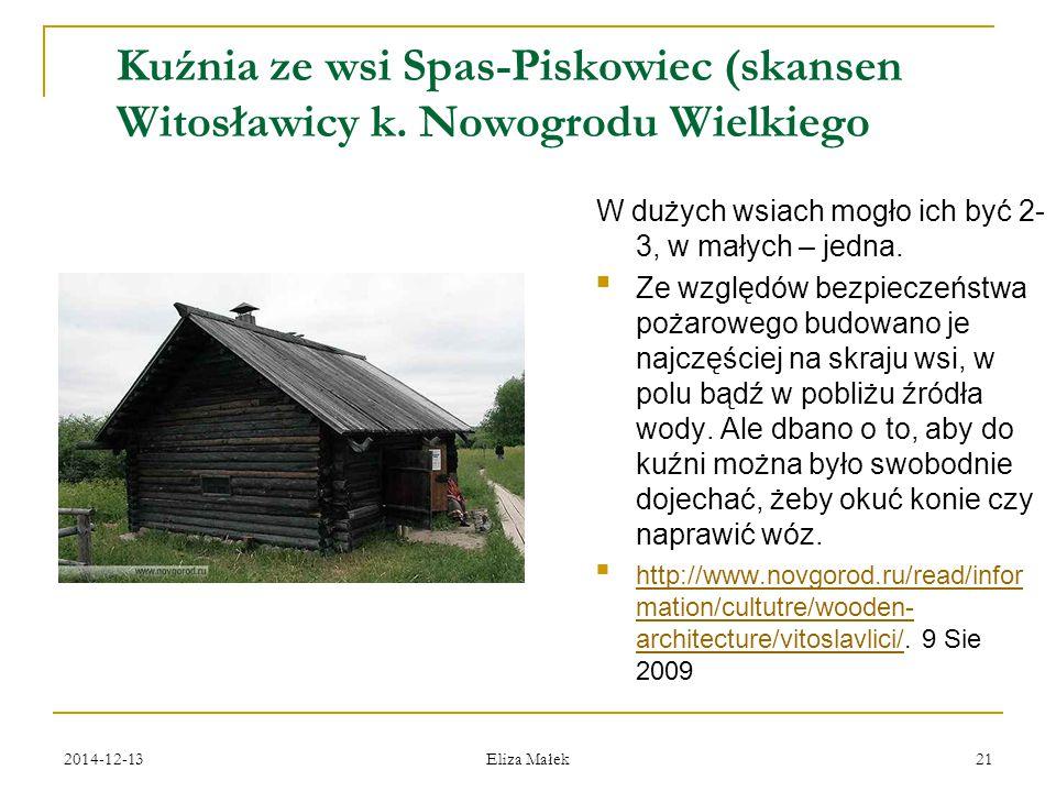 Kuźnia ze wsi Spas-Piskowiec (skansen. Witosławicy k