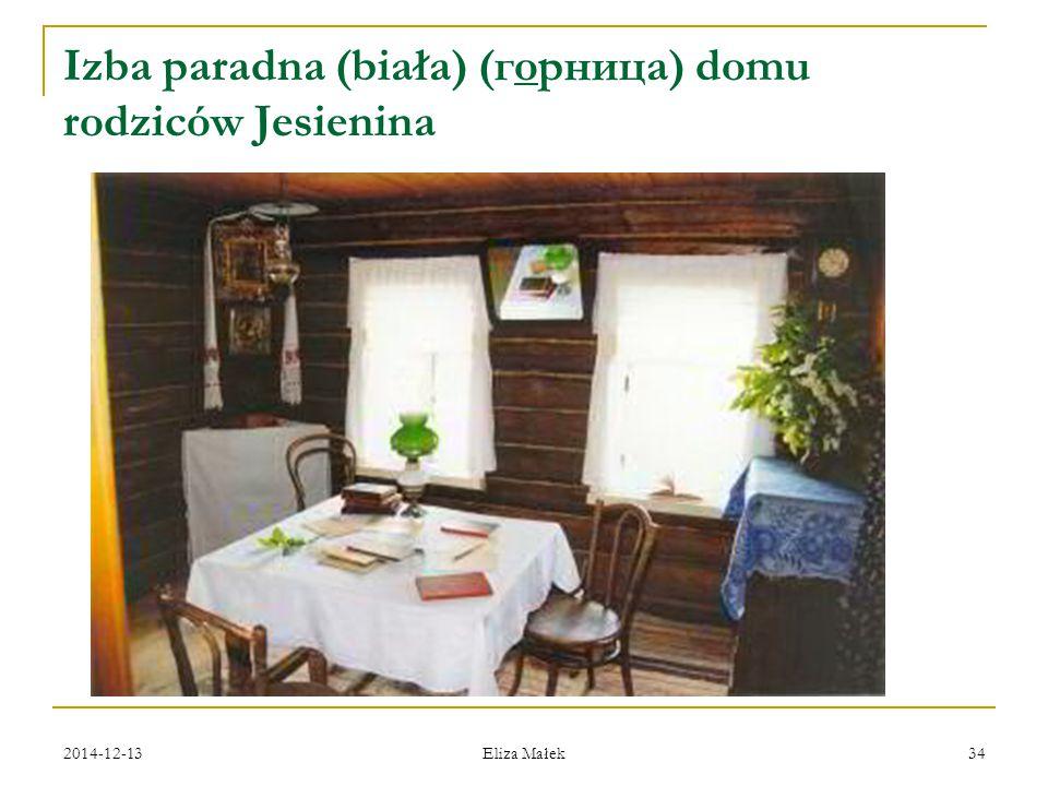 Izba paradna (biała) (горница) domu rodziców Jesienina