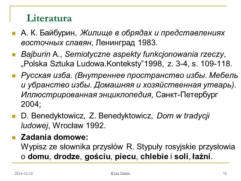 Literatura А. К. Байбурин, Жилище в обрядах и представлениях восточных славян, Ленинград 1983.