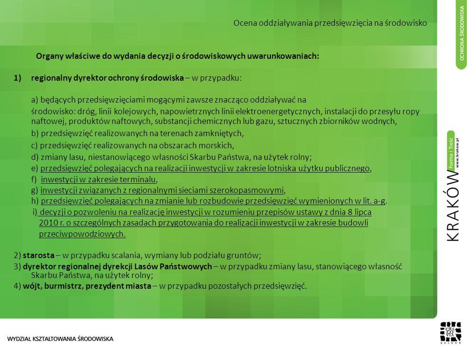 Ocena oddziaływania przedsięwzięcia na środowisko