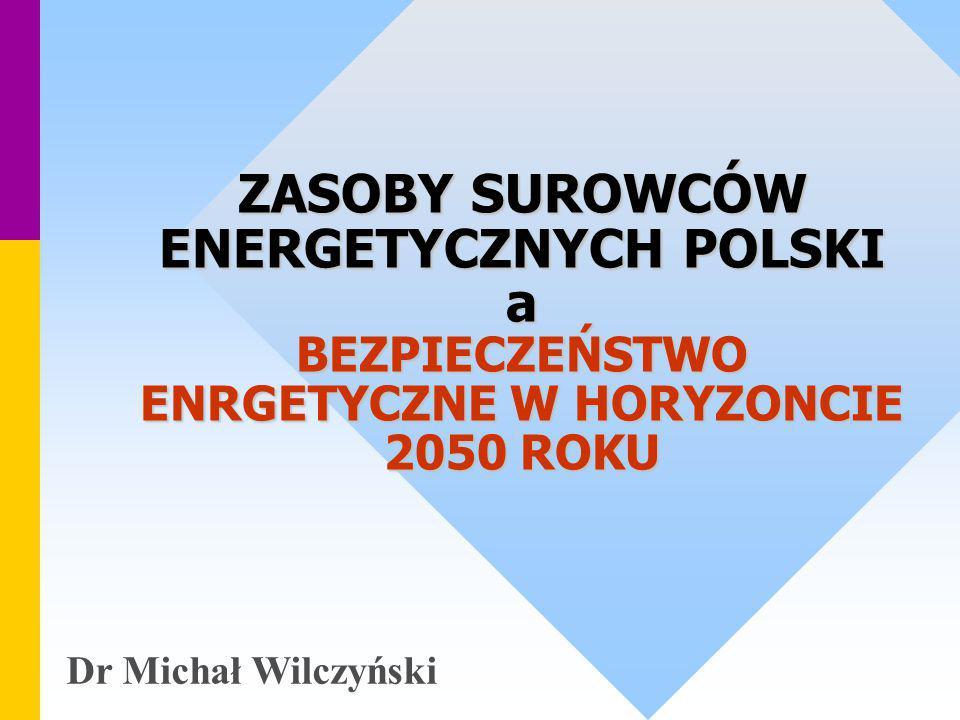 ZASOBY SUROWCÓW ENERGETYCZNYCH POLSKI a BEZPIECZEŃSTWO ENRGETYCZNE W HORYZONCIE 2050 ROKU