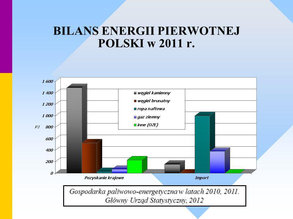 BILANS ENERGII PIERWOTNEJ POLSKI w 2011 r.