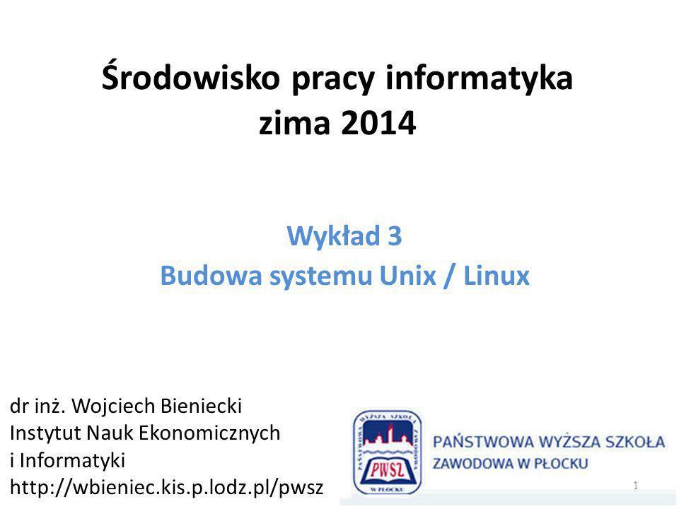 Środowisko pracy informatyka zima 2014