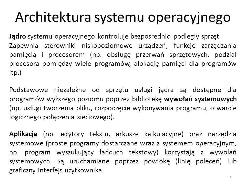 Architektura systemu operacyjnego