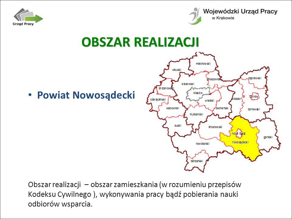 OBSZAR REALIZACJI Powiat Nowosądecki