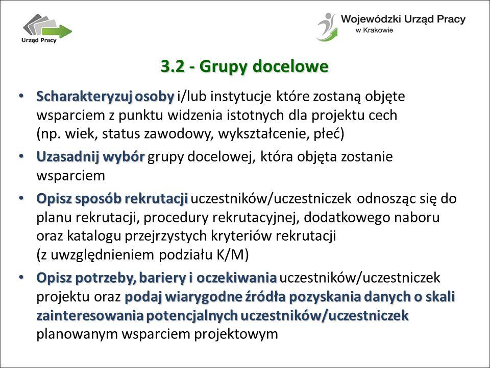 3.2 - Grupy docelowe