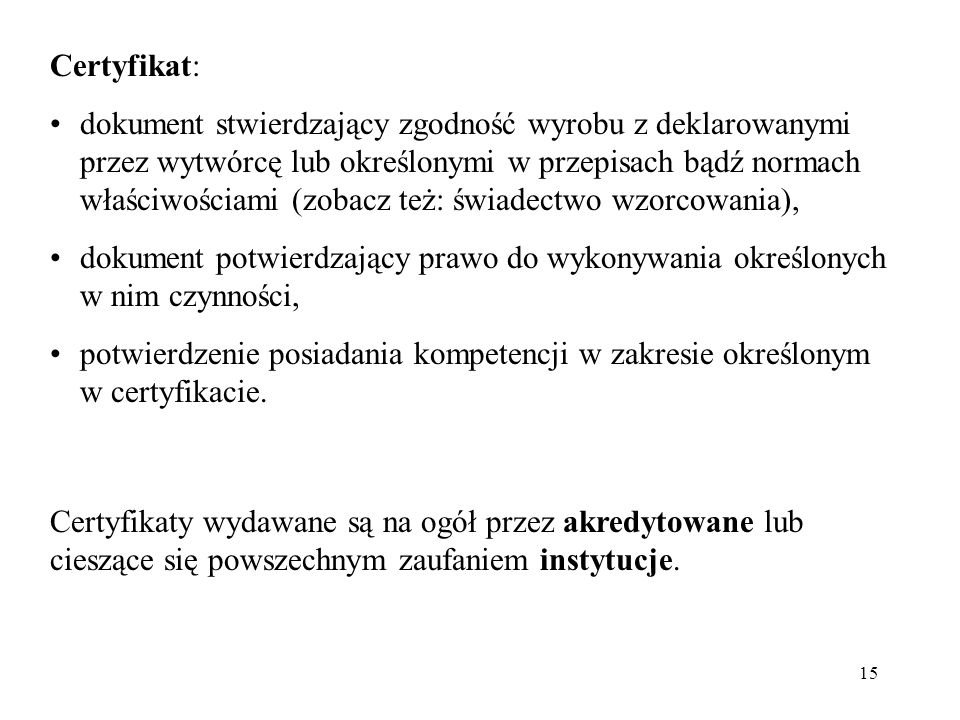 Certyfikat: