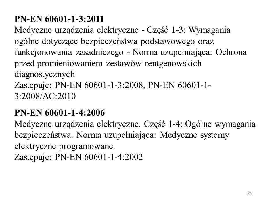 PN-EN 60601-1-3:2011