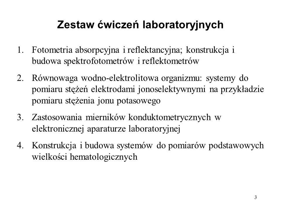 Zestaw ćwiczeń laboratoryjnych