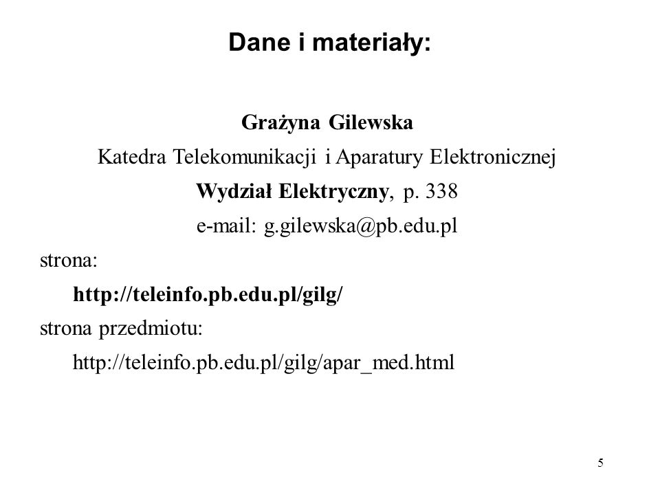 Dane i materiały: Grażyna Gilewska