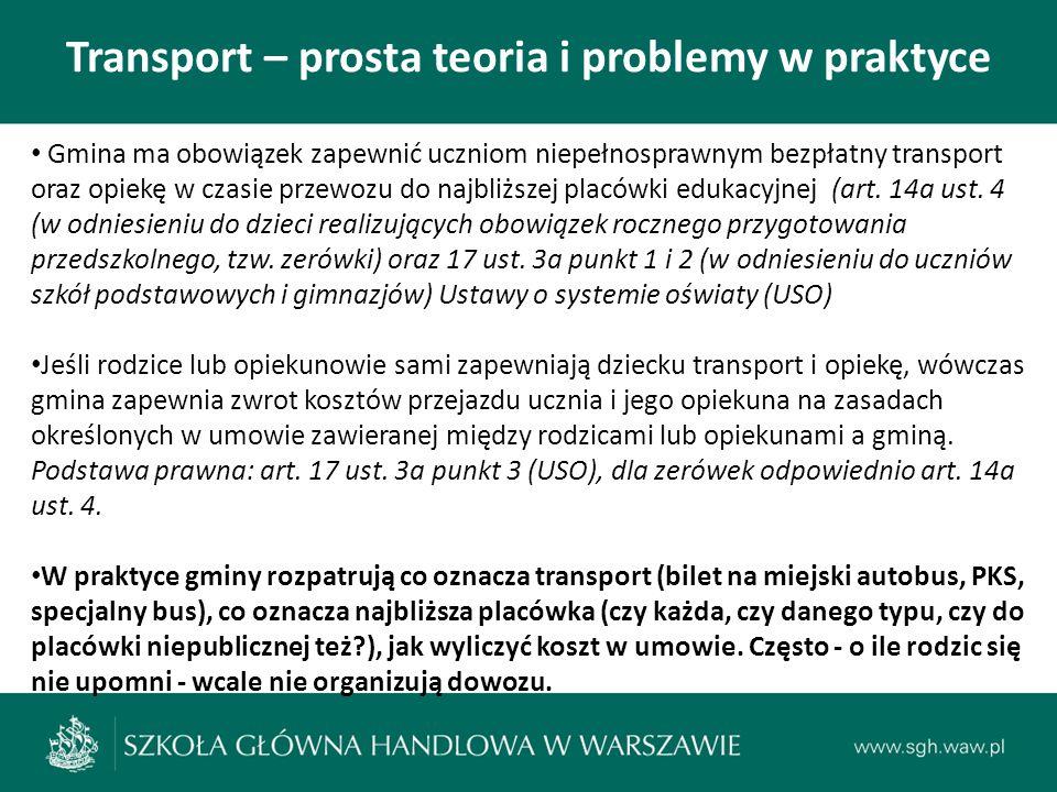 Transport – prosta teoria i problemy w praktyce