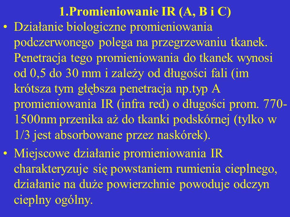 1.Promieniowanie IR (A, B i C)