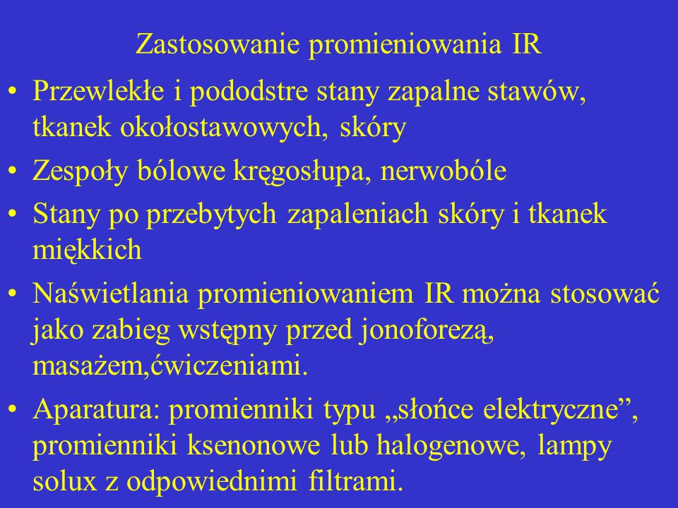 Zastosowanie promieniowania IR