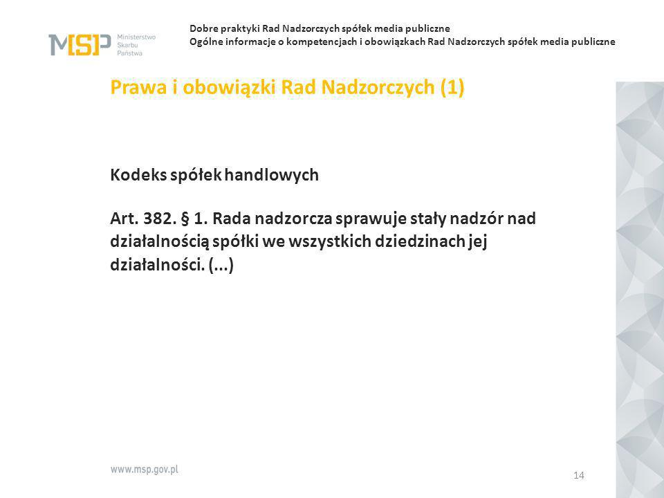Prawa i obowiązki Rad Nadzorczych (1)