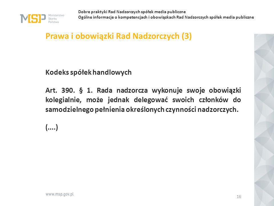 Prawa i obowiązki Rad Nadzorczych (3)
